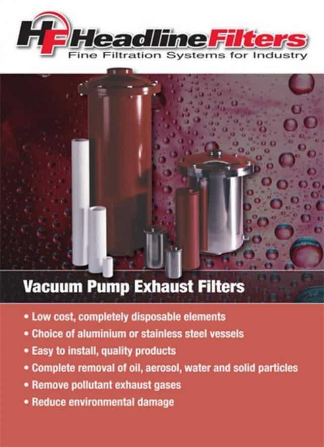 Headline Filter Brochure - Vacuum Pump Exhaust Filters