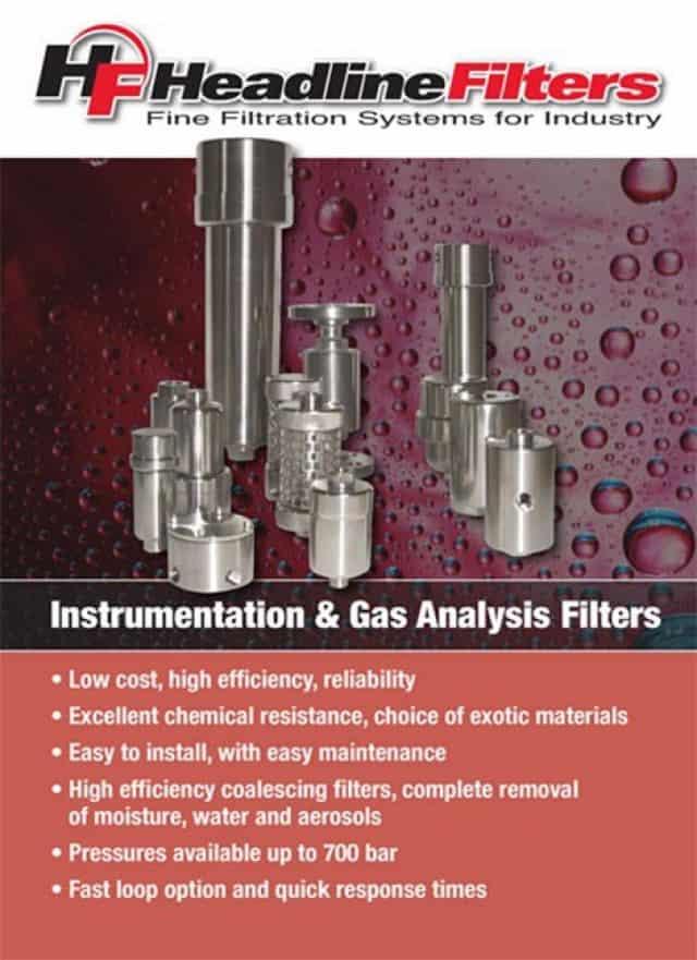 Headline Filter Brochure - Instrumentation & Gas Analysis Filters