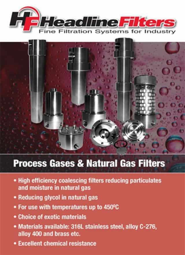 Headline Filter Brochure - Process Gases & Natural Gas Filters